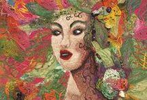 Textile Art / textile art to inspire