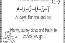 August Educational Ideas / Educational ideas for August.  / by VocabularySpellingCity