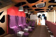 Beauty Salon Interior Design / Best Beauty Salons designed by VIVEA - Viveck Vermaa Architects