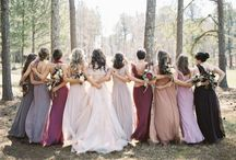• the bridal party • / • • the couple their maids & men • •