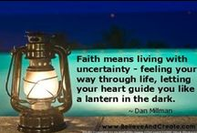 Stand in Faith  / by Believe and Create
