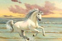 Unicorn Art / Paintings of unicorns by Ruth Sanderson