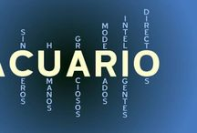 Aquarius - Acuario / As a 100% aquarius I want to have words that define my sign