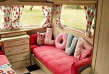 Trailer Interiors we LOVE! / Sisters on the Fly are famous for lovingly restoring vintage trailers and taking them on amazing adventures. There isnt a campground, fairground, or national park that hasnt hosted a Sister on the Fly!  / by Official Sisters On The Fly