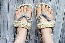 Crochet shoes and socks