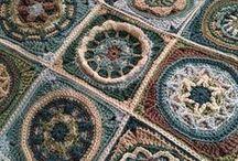 Crochet - squaring the circle / Squares and mandalas