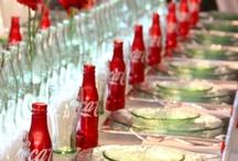 wedmood | theme: coca-cola / Wedding planning mood board for coca-cola themed wedding. We love coke!