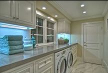 laundry rooms...