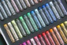 pastelkrijt / Dit bord staat vol met ideeën, tips en tricks voor olie en soft pastels!
