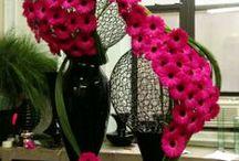 glass floral arrangement
