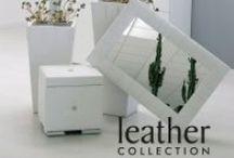Leather Collection / Orologi d'arredo realizzati artigianalmente.
