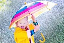 Rain and Puddle Play / Play in the rain and puddles.