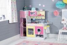 Sunshine Kitchen / Bring a little sunshine to your life with this fabulous kitchen. It's brilliant social role-play fun for siblings, friends and visiting relations. Cuppatea anyone? / by Great Little Trading Co