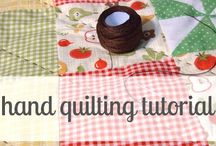 Hand quilting / by Sue Sewell
