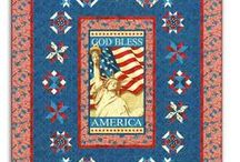 PATRIOTIC | Americana Home / Show your Patriotism through the year - we have American Block of the Month programs, Quilt kIts, and Home Dec items, too.