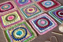 Crochet - Piastrelle & company - Granny & company / Mattonelle quadrate, rotonde, a spirale, ecc. ecc. Square tiles, round, spiral, etc.. etc..