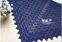 Crochet&more - Scialli triangolari e stole / Scialli e stole - uncinetto e ferri Shawls and  stoles  - crochet and knitting