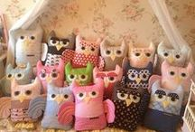 Owls handmade by me