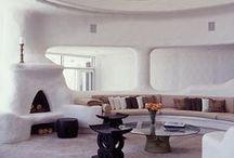 Salón, zona de estar (construcción con tierra)