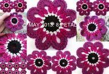 Crochet&more - Fiori - Flowers / Fiori e foglie a crochet/knit per usi vari
