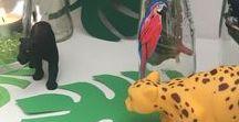 Dschungel Party DIY / Idee zum Thema Dschungel - Deko, DIY, Candybar, Einladung, ...
