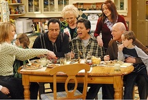 Everybody Loves Raymond / Raymond and his family...the Barones; Raymond, Debra, twins & Ally. Robert and Amy; Marie and Frank
