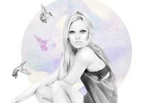 Kelly Smith / #KellySmith #Fashion #Illustration #Portraiture
