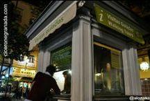 Nuestro kiosko / Este es nuestro kiosko en la Plaza de Bibrambla, el blanco y verde, en la esquina más cercana a la Catedral.