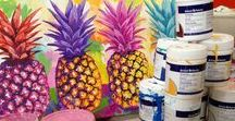 Karrinyup | Pineapple Mural / Linzi Carter has transformed a space in the Food Court with a beautiful pineapple mural. Be sure to check it out!