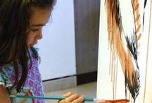 Fiesta del Verano en Museo de Altamira 2015 / Actividad realizada por alumnos de la Escuela de Arte nº1 en el contexto de la Fiesta del Verano organizada por el Museo de Altamira.