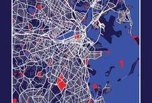 La Ville / La ville est un mélange de lignes et de courbes