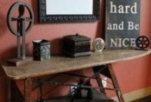 Vintage wooden iron boards / what you can do with old iron boards