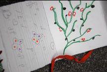 TALLER LIBRO DE ARTISTA / taller realizado por los alumnos de 1º de Ilustración para alumnos de los colegios Altamira y Vital Alsar en el contexto de la exposición La palabra pintada, en el Paraninfo de la Universidad.