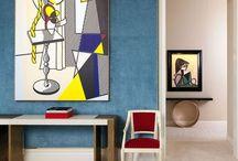 Современное искусство в интерьере / Art in the interiors