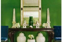 Green *** зеленый цвет в интерьере