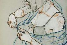 Body art drawing
