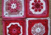 Häkeln Granny Square crochet / Gratis Anleitungen ...  aber auch Inspirationen für eigene Ideen ! / by R. S.