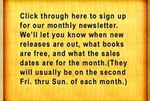 HOW TO BUY / Instructions on how to reach each book's selling site. Buy great romances, new romance, western romance, Christian romances, adventure, mystery, suspense, humorous romances, children's stories, recipe books.