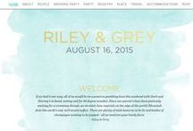 WATERCOLOR / Pops of watercolor against clean, white pages with gold foil font make for a paradoxically, soft & bold stationary statement. A limited edition, luxury wedding website by Riley & Grey. / by Riley & Grey