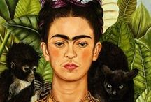 art: frida kahlo /  i don't paint dreams or nightmares, i paint my own reality. the only thing i know is that i paint because i need to, and i paint whatever passes through my head without any other consideration