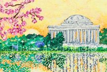 Washington DC Cherry Blossom / Cherry blossom in Washington DC - an elegant and cheerful art piece