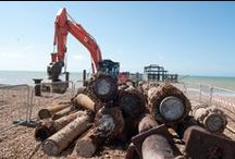 June 2014. Struts removal / First and foremost, the West Pier struts on the beach need to be removed so work can begin. As for the crumbling, majestic West Pier out to sea, nobody lays a finger on her.