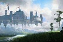 Concept Art - Building Castle City Town Village / Civilization concepts and buildings