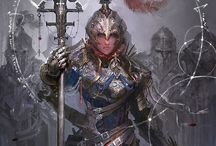 Armor and Weapons / Weapons and armor of mostly medieval, fantasy style.