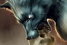 Fantasy Paws / Dogs, wolves, foxes, cats and all creatures with paws with a fantasy twist.