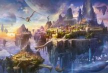 Fantasy Worlds / Fantastical landscapes, futuristic cities and other beautiful worlds.