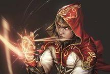 Magic Wielders / Wielders of magic. Warlocks, witches, wizards, sorcerers, enchanters...