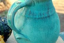 Pottery pitchers / A collection of Pottery Pitchers that I find inspiring. handles, pottery pitchers, glazes, pitchers as utensil holders, pitchers as vases, home decor, kitchen decor, functional art, decorative art