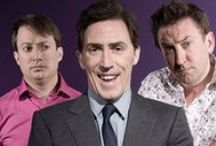 British Comedy / British panel shows and comedians. QI, Would I Lie to You, Big Fat Quiz of the Year, Mock the Week, 8 out of 10 Cats does Countdown...