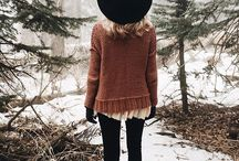Fall/Winter Style / Layers, hats, cozy, hot cocoa, knits /// Fall and Winter style and shopping inspiration